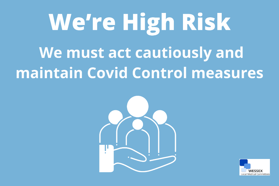 We're high risk we must act cautiously and maintain covid control measures