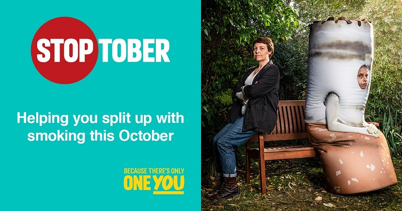 Stoptober. Helping you split up with smoking this October
