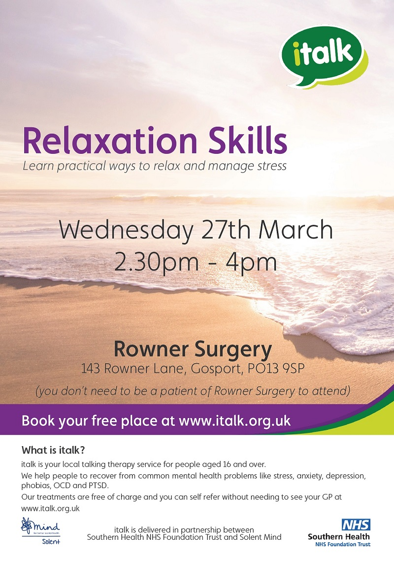 Relaxation Skills Workshop